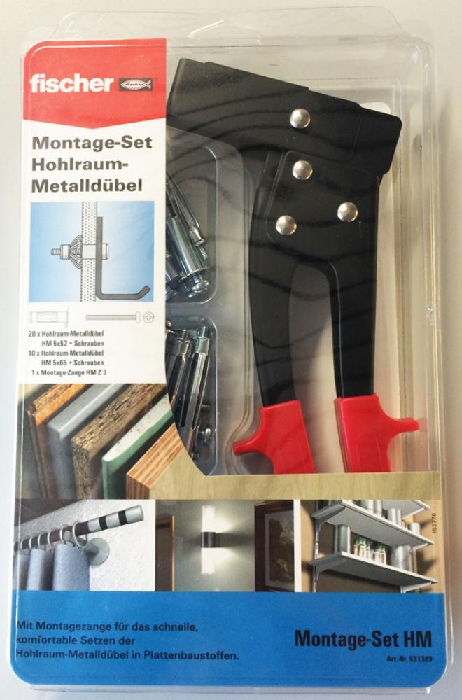 fischer montage set hohlraumbefestigung hohlraum befestigungen. Black Bedroom Furniture Sets. Home Design Ideas