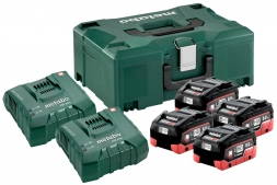 Metabo Basis Set 4 x LiHD 8.0 Ah + 2 x ASC Ultra + Metaloc
